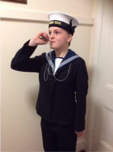 A very proud young sailor