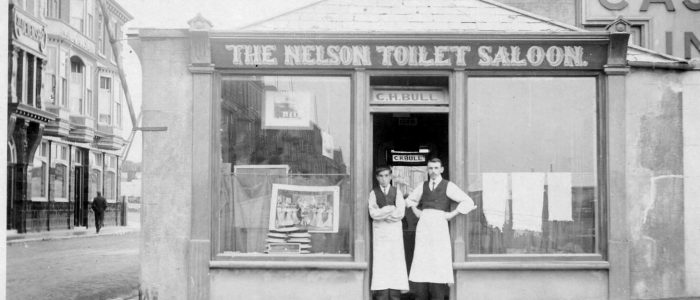 The Nelson Toilet Saloon, Castletown, Portland (Circa 1900)