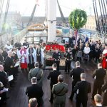 Images of the Second Sea Lord Vice Admiral Jonathen Woodcock OBE and other guests take part in the Trafalgar day ceremony onboard HMS Victory. During the ceremony 2SL laid a wreath on the plaque that marks the spot where Lord Nelson fell. Images of the Second Sea Lord Vice Admiral Jonathen Woodcock OBE and other guests take part in the Trafalgar day ceremony onboard HMS Victory. During the ceremony 2SL laid a wreath on the plaque that marks the spot where Lord Nelson fell.