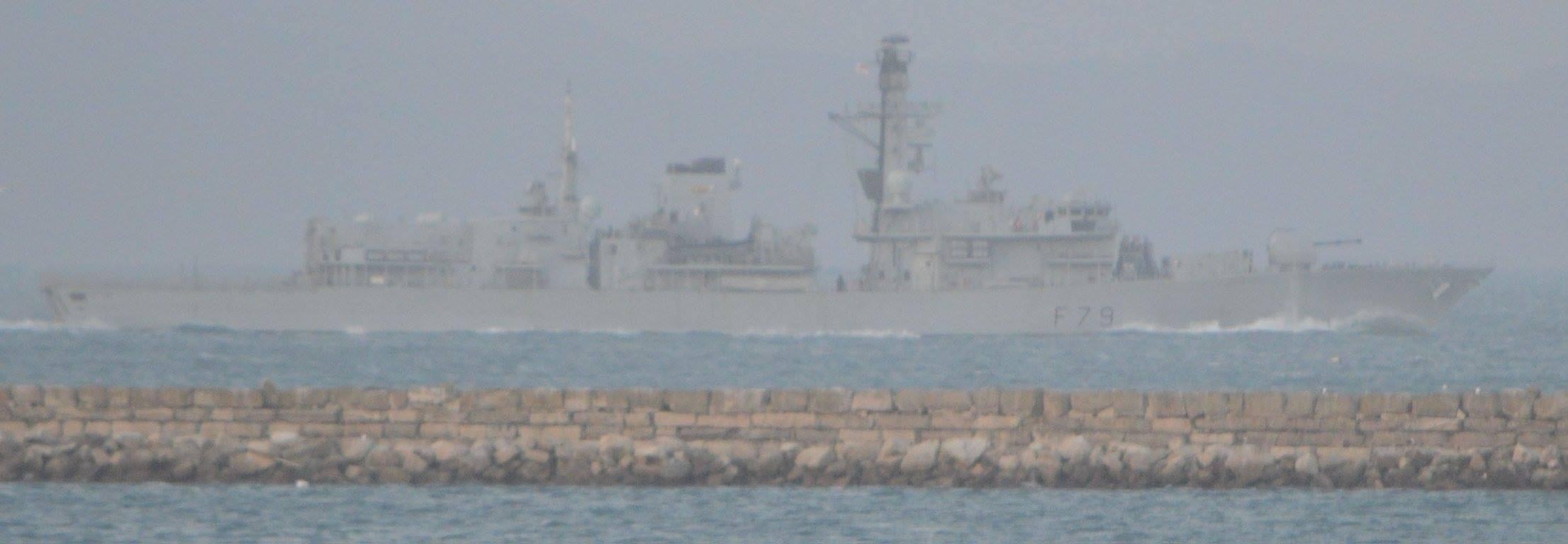 HMS Portland off Breakwater