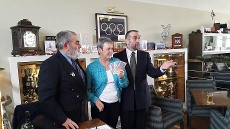 Captain Paul Compton MN with Tony Barrett and Patsy Hosie