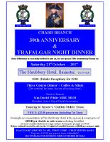 Trafalgar Night Poster. Coloured Sheet
