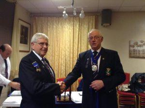 Ben Cartwright hands the chairmanship over to Dan Sherren MSM