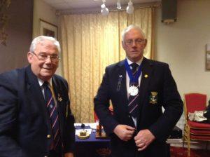Dick Barton hands over the presidency to Ben Cartwright