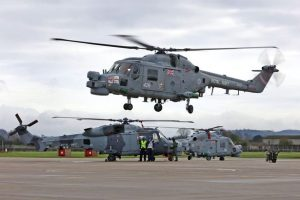 HMS Portland's Lynx returns to Yeovilton for the final time - March 2017