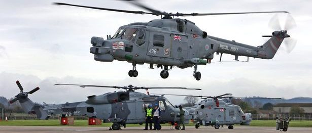 HMS Portland's Lynx make it's final landing at RNAS Yeovilton