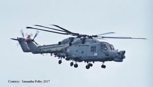 2 Lynx from Yeovilton make a final flight over Portland 17 March 2017