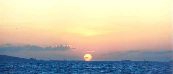 Sunset over Portland Harbour. Courtesy of Ben Cartwright