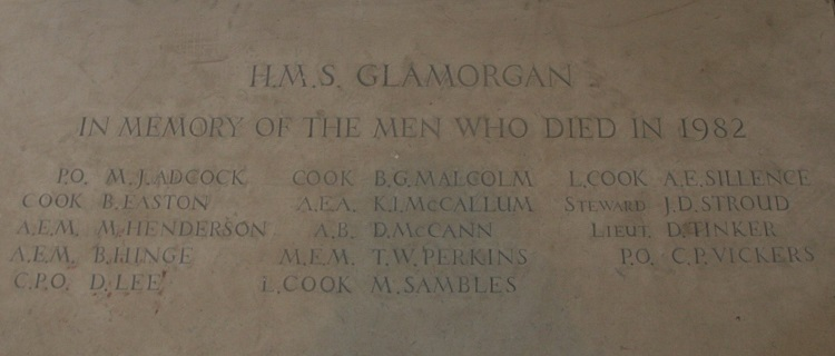 HMS Glamorgan ship's company who lost their lives on 12th June 1982 ~ may they rest in peace