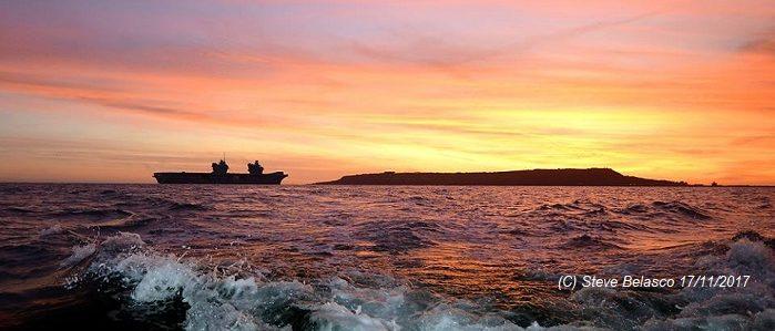 HMS Queen Elizabeth visits Portland November 2017 Courtesy of Steve Belasco