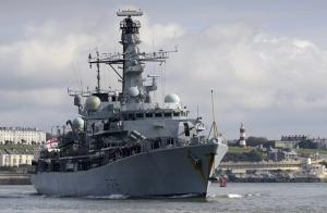 HMS Portland deploys