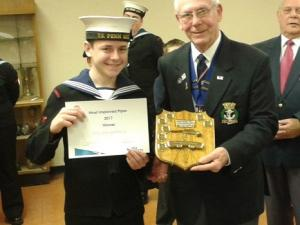 Dick Barton Trophy Winner.Cadet 1st class George