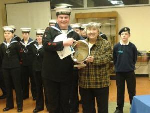 Ken Stevenson Award.Able Winner.Able Cadet William