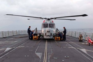 HMS Portland's Lynx fitted with Sea Skua Mar  2017