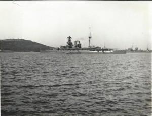 HMS Malaya off Portland