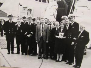 RNA Portland Branch aboard FGS Zerstorer 3, 17 July 1966