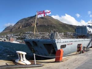 HMS Portland at Simonstown S.A.