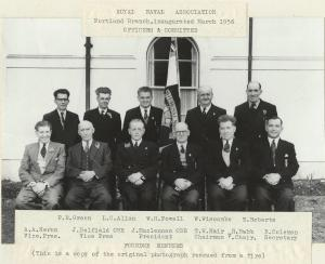 RNA Portland Branch, inaugurated March 1956, Officers and Committee