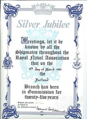 RNA Portland Branch Silver Jubilee