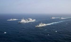 HMS Portland during Exercise GASWEX/SHAREM