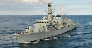 HMS Portland at Sea
